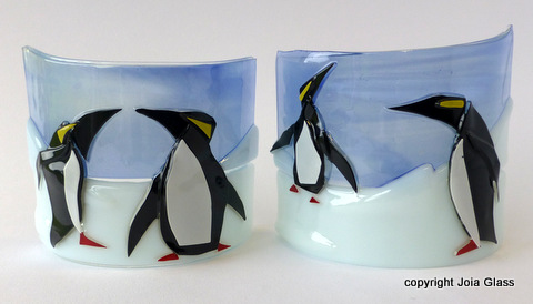 Penquins on Tea Lights 2