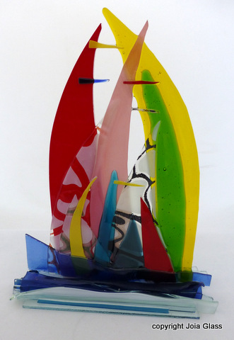 Sails on Glass Base