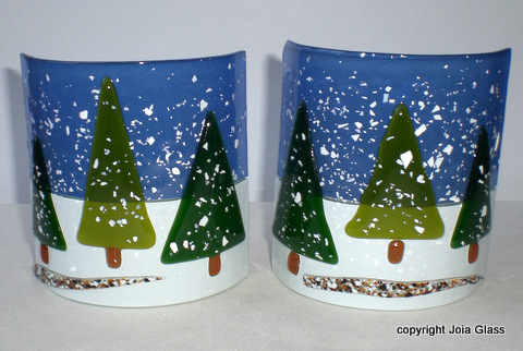 Snowy Trees Tea Lights