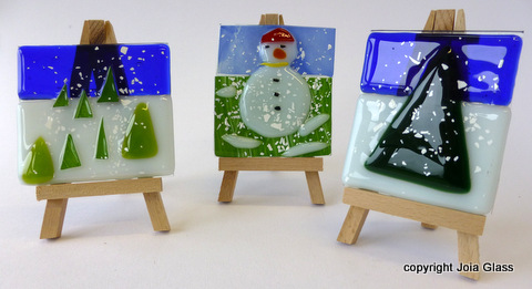 Winter Plaques on Easels